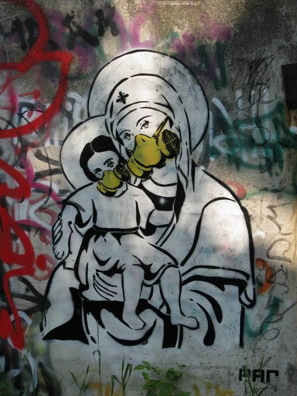 Pop-art graffiti in Uman, Ukraine. 2011. p. 5