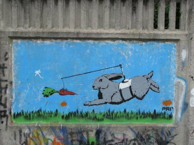 Pop-art graffiti in Uman, Ukraine. 2011. p. 10